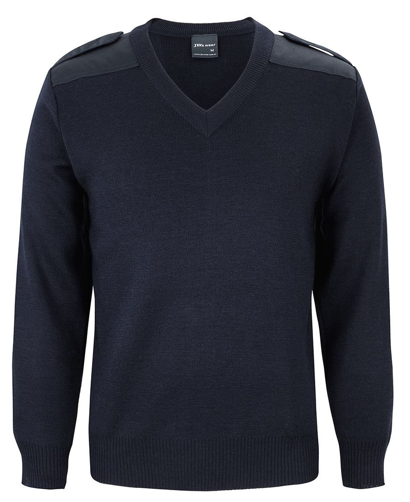 JB's Men's Knitted Epaulette Jumper (6EJ)