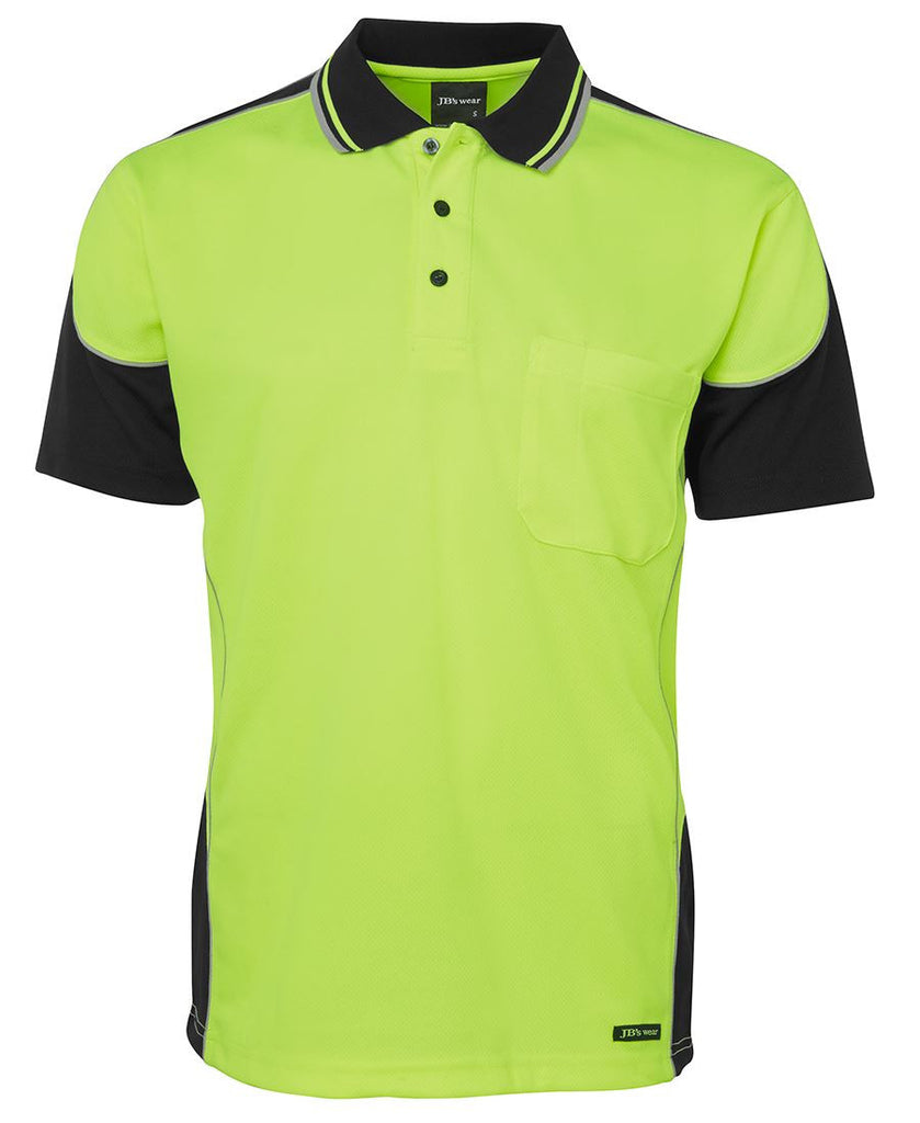 JB's Hi Vis Contrast Piping Polo - Adults (6HCP4)