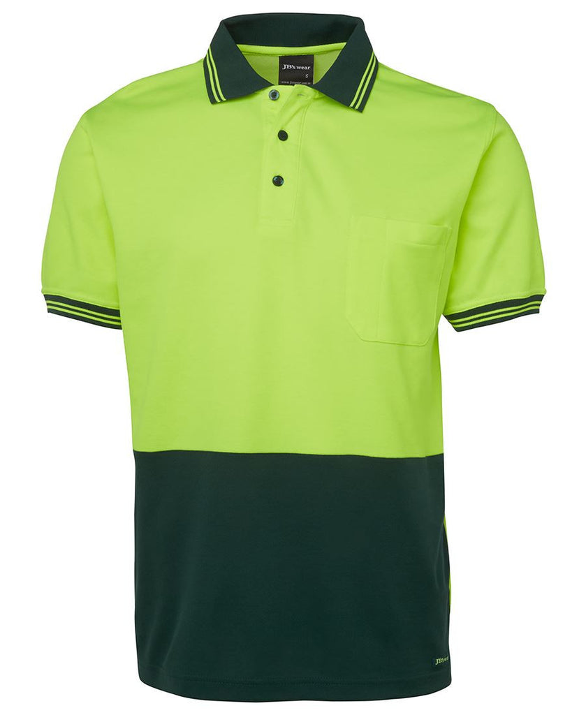 Jb's Hi Vis Short Sleeve Cotton Back Polo - Adults (6HPS)