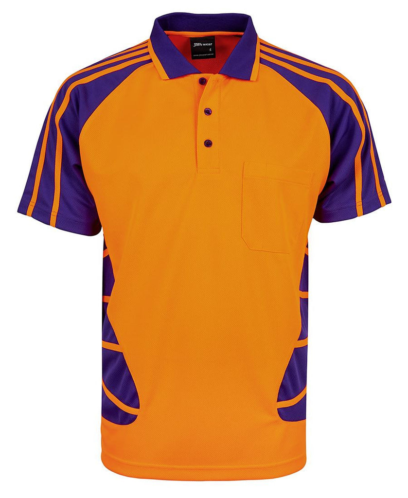 Jb's Hi Vis Short Sleeve Spider Polo - Adults (6HSP)