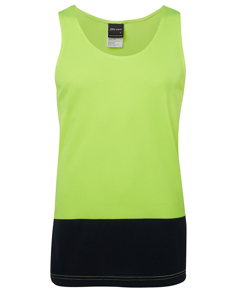 Jb's Hi Vis Traditional Singlet - Adults (6HTS)