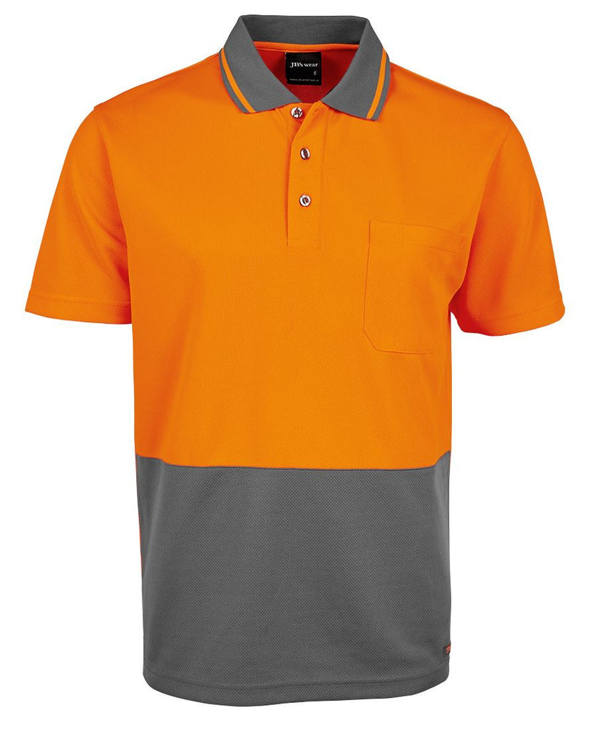 JB's Adults Hi Vis  Non Cuff Traditional Polo 2nd Color (6HVNC)