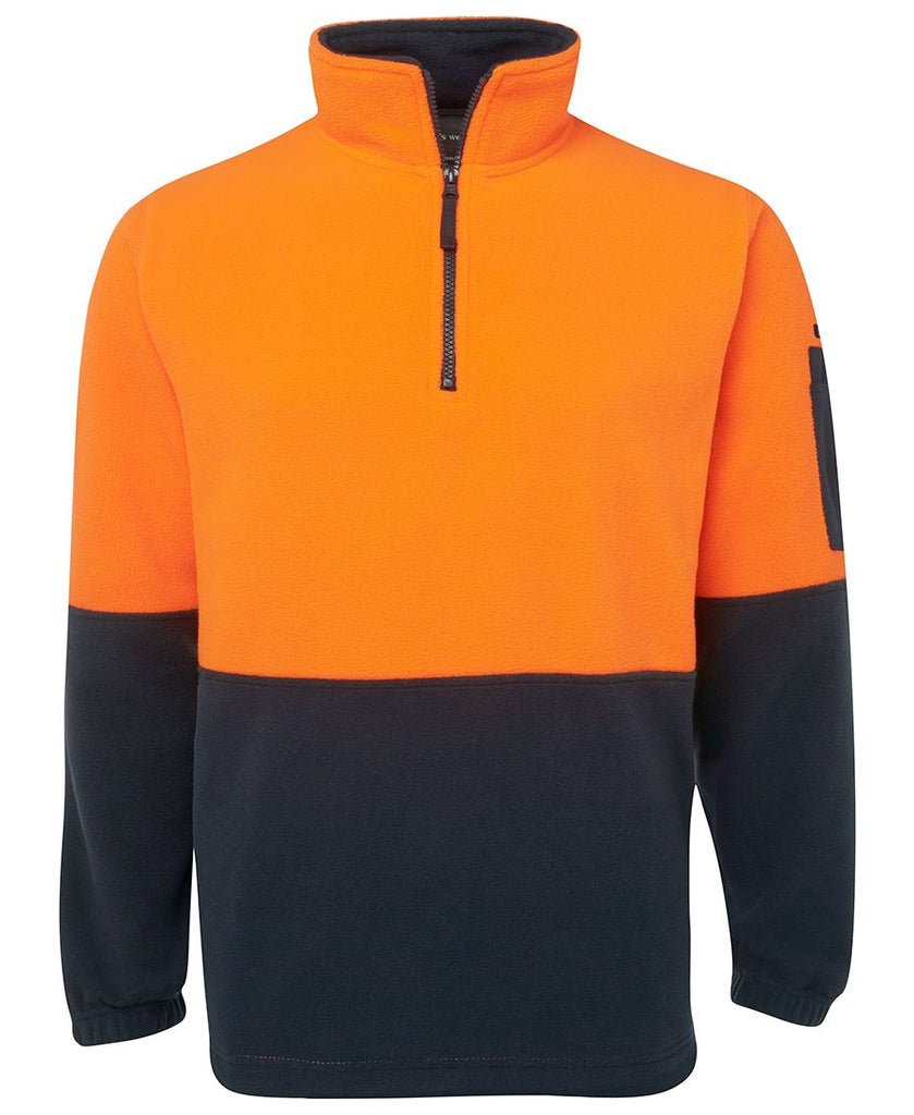 JB's Hi Vis 1/2 Zip Polar Fleece - Adults (6HVPF)