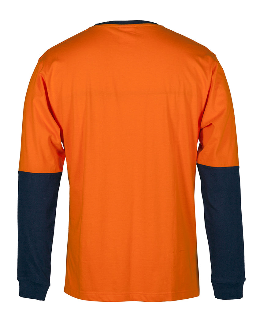 JB's Hi Vis L/S Crew Neck Cotton T-Shirt (6HVTN)