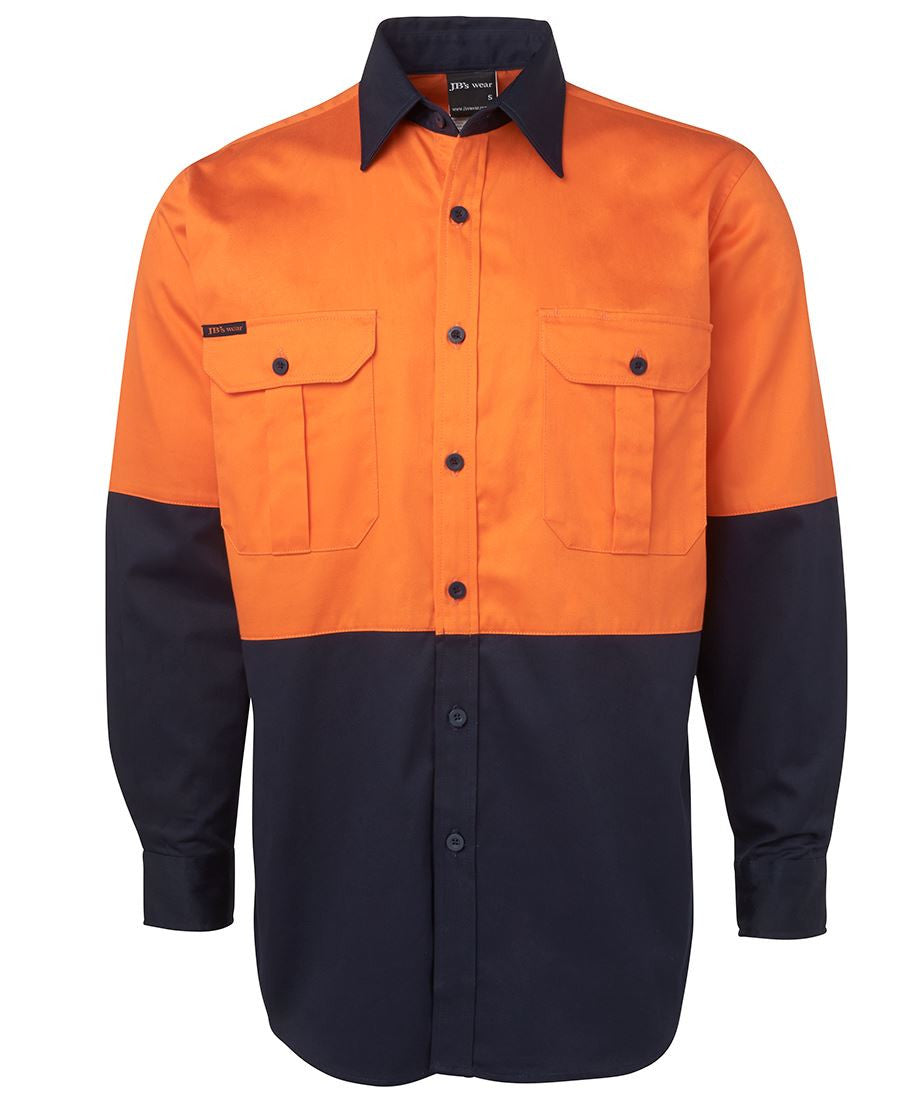 Jb's Hi Vis Long Sleeve 190g Shirt - Adults (6HWL)