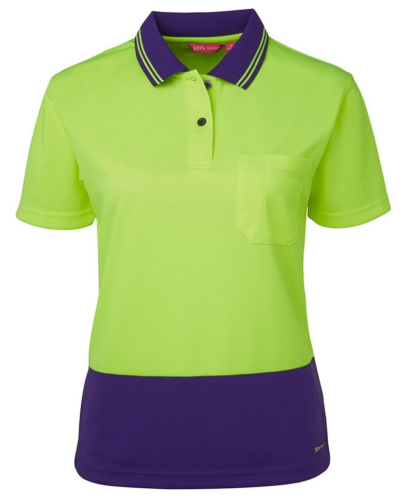 JB's Ladies Hi Vis Short Sleeve Comfort Polo (6LHCP)