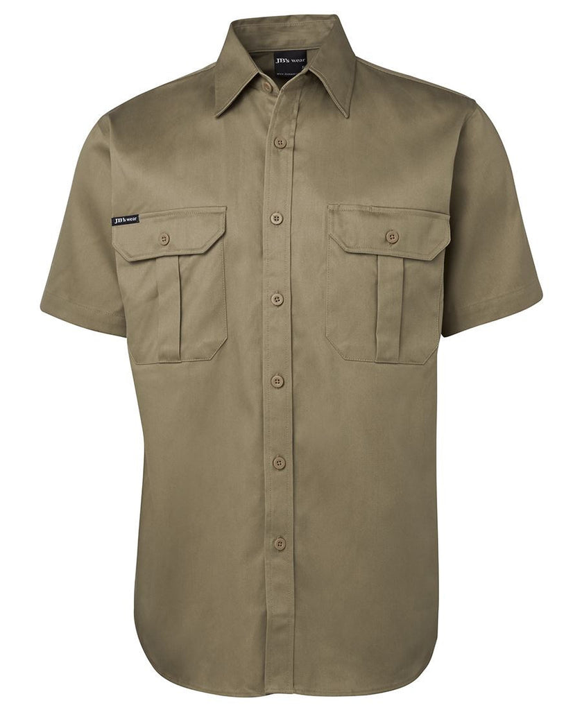 JB's Short Sleeve 190g Work Shirt (6WSS)