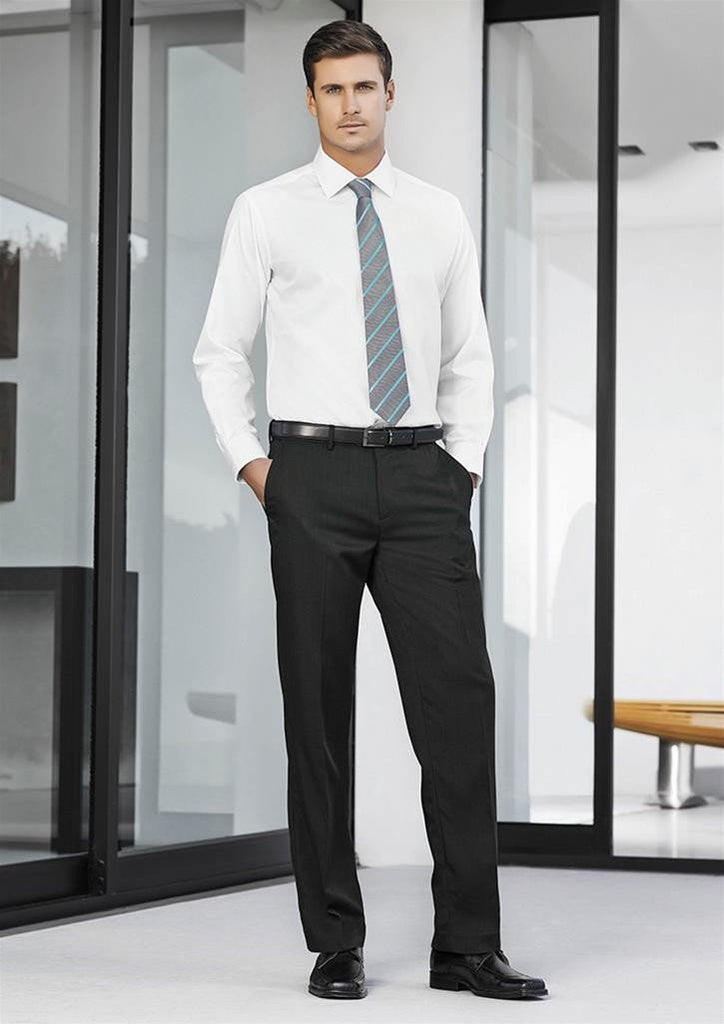 Biz Corporates-Biz Corporates Mens Adjustable Waist Pant Stout--Corporate Apparel Online - 1