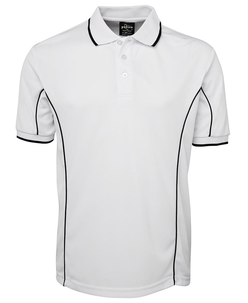 Jb's Adults Podium Short Sleeve Piping Polo 1st (10 Colour) (7PIP)