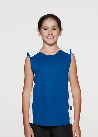 Aussie Pacific Premier Kids Singlet 1st (9 Colour)-(3101)