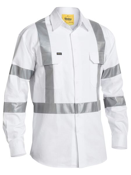 Bisley Taped Night Cotton Drill Shirt -(BS6807T)