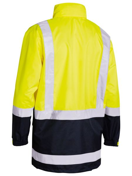 Bisley Two Tone Taped Hi Vis Rain Shell Jacket-(BJ6966T)
