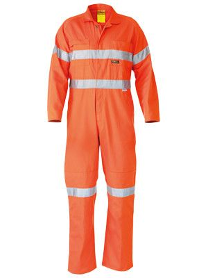 Bisley  Hi Vis Lightweight Coveralls 3m Old Reflective Tape-(BC6718TW)