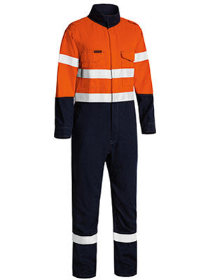 Bisley Tencate Tecasafe® Plus Taped 2 Tone Hi Vis Fr Lightweight Engineered Coverall-(BC8186T)