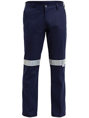 Bisley 3m Taped Cotton Drill Work Pant-(BP6006T)
