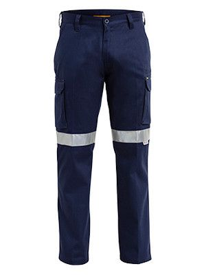Bisley 3m Taped Cotton Drill Cargo Pant-(BPC6006T)