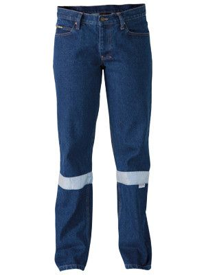 Bisley 3m Taped Industrial Womens Boot Leg Work Denim Jean-(BPL6053T)