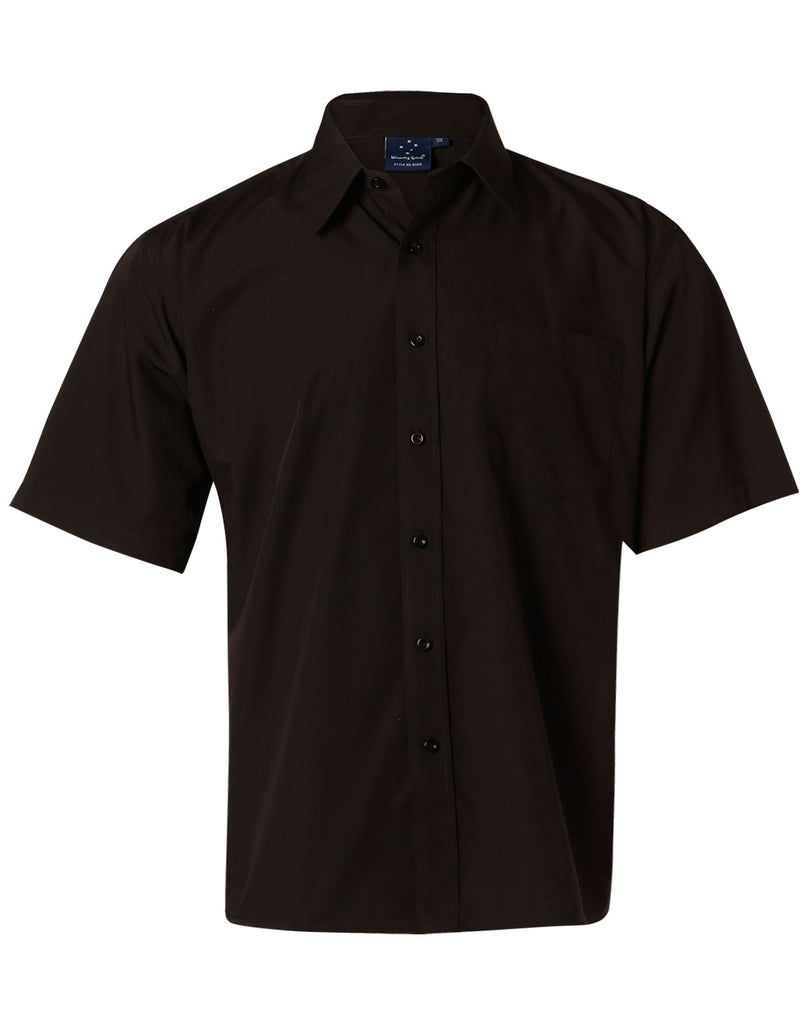 Winning Spirit Men's Poplin Short Sleeve Business Shirt (BS01S)