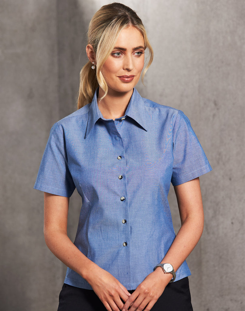 Winning Spirit Ladies Chambray Short Sleeve (BS05)
