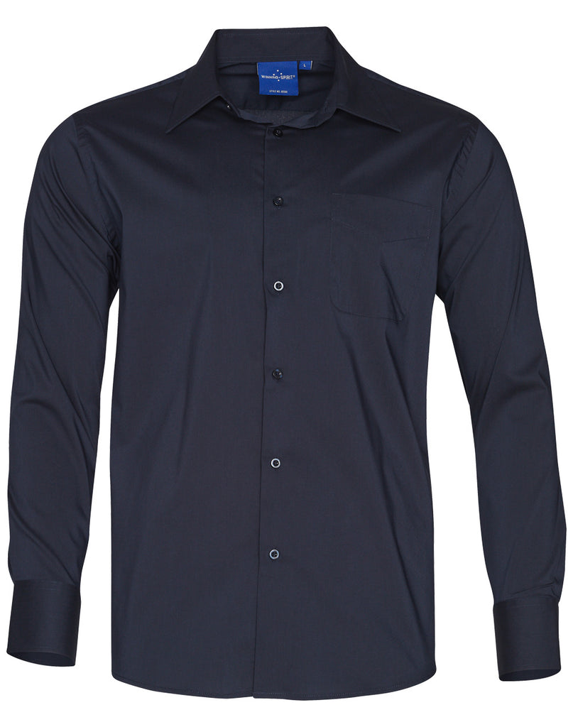 Winning Spirit Men's Teflon Executive Long Sleeve Shirt (BS08L)