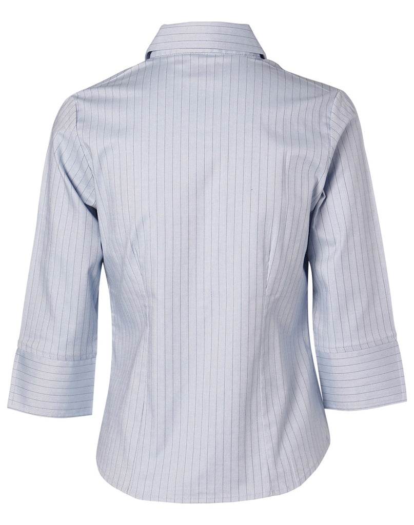 Winning Spirit Women's Pin Stripe 3/4 Sleeve Shirt (BS18)