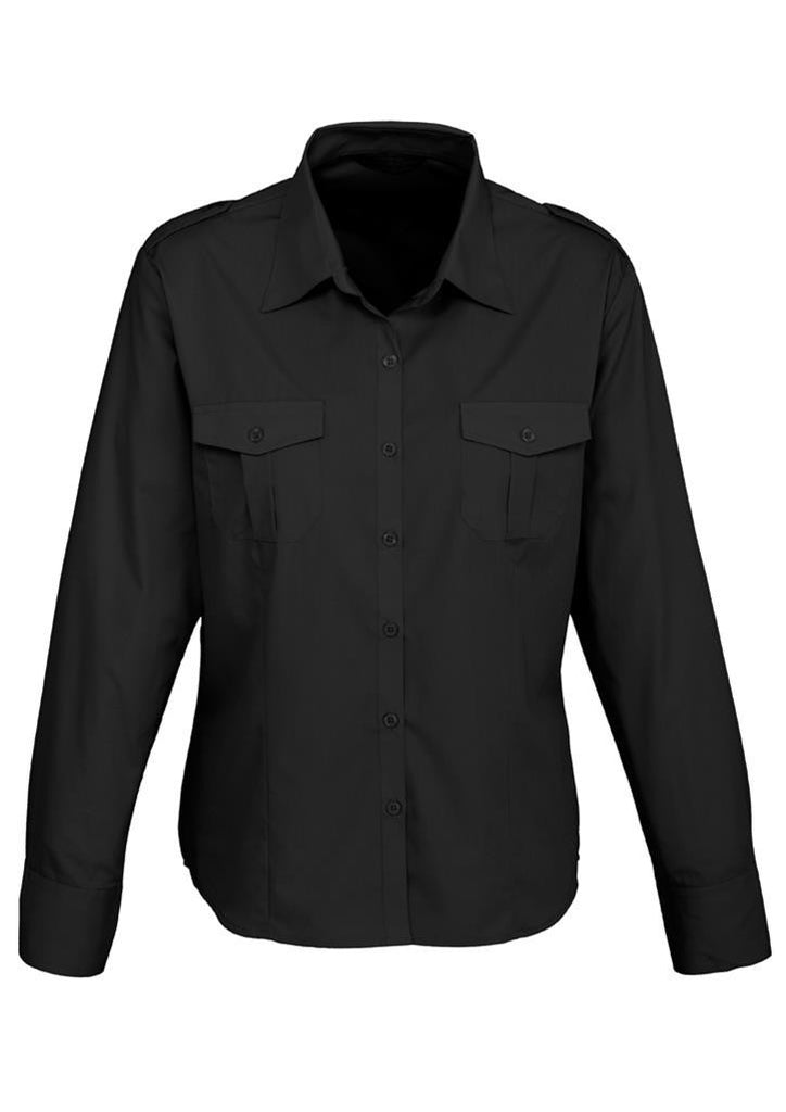 Biz Collection Ladies Epaulette Long Sleeve Shirt (S117LL)