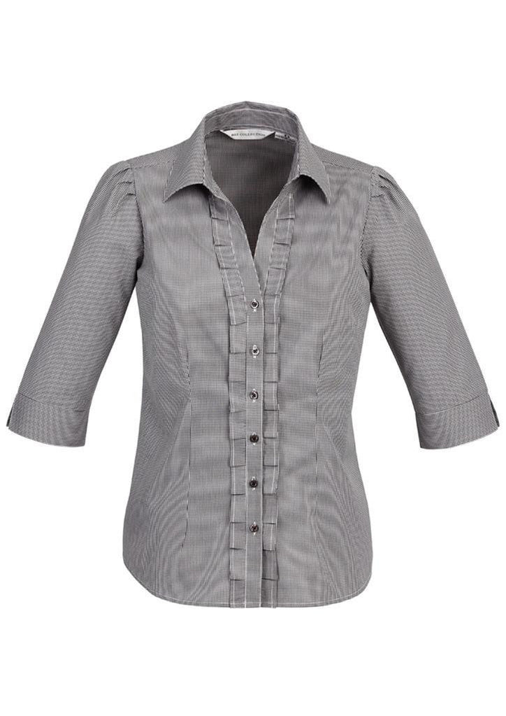 Biz Collection Edge Ladies 3/4 sleeve shirt (S267LT)