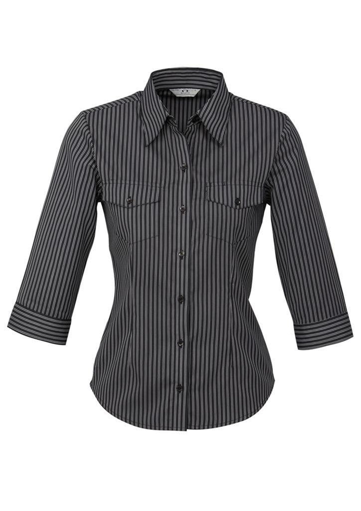 Biz Collection Ladies Cuban 3/4 Sleeve Shirt (S10421)
