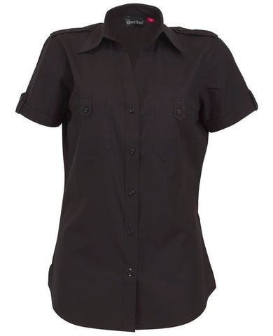 Identitee-Chelsa Ladies Shirts-Black