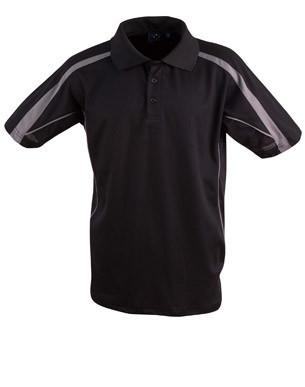 Winning Spirit-Winning Spirit Legend Kids Poly-cotton Blended Polo 2nd(2 Colour)-Black/Ash / 04K-Uniform Wholesalers - 3