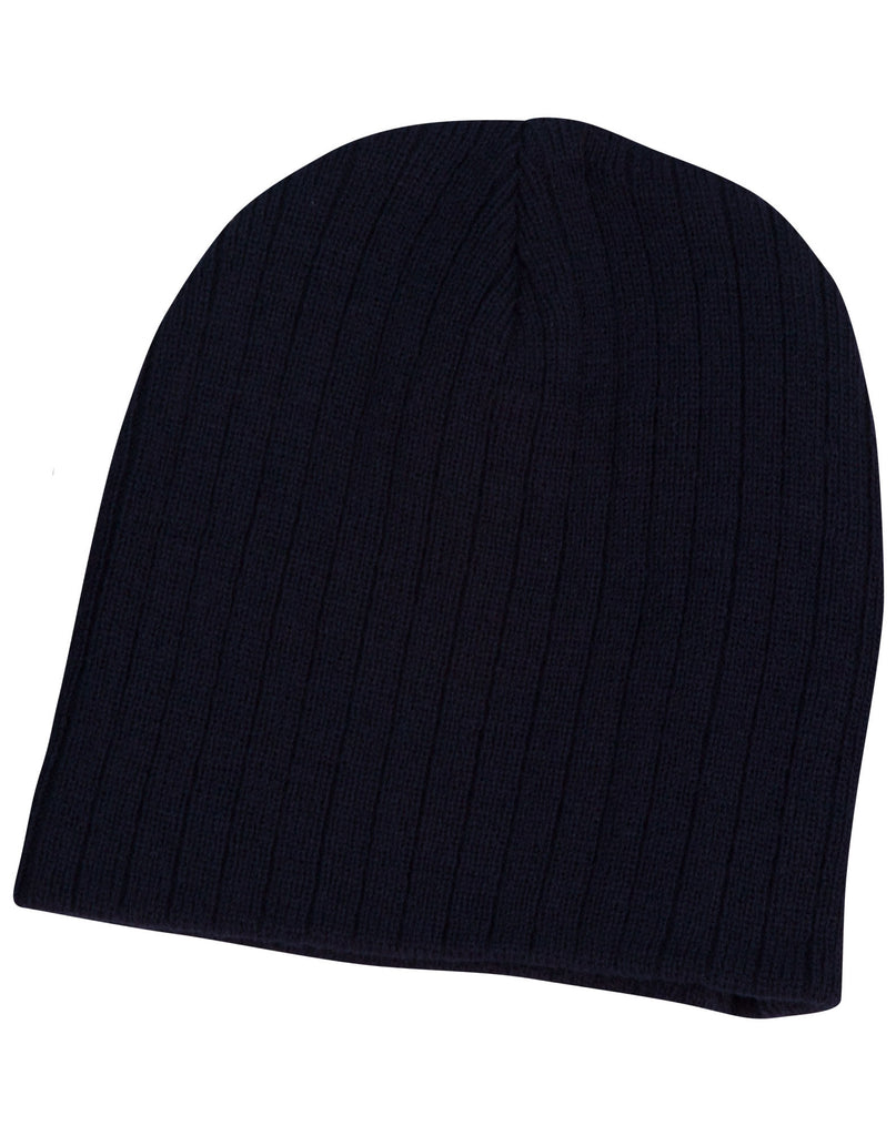 Winning Spirit Cable Knit Beanie Caps (CH62)