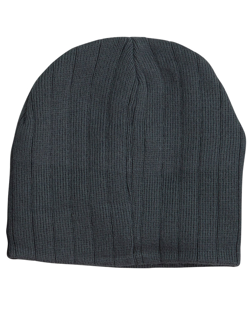Winning Spirit Cable Knit Beanie With Fleece Head Band Caps (CH64)