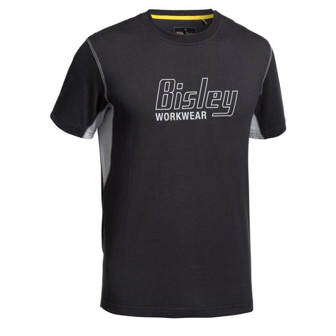 Bisley Flex & Move™ Contrast T-shirt - Short Sleeve-(BK1922)