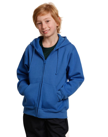 Winning Spirit Kids' Double Bay Full Zip Fleecy Hoodie (FL03K)