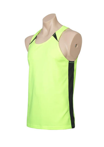 Biz Collection Mens Splice Singlet 1st ( 10 Colour ) (MV903)
