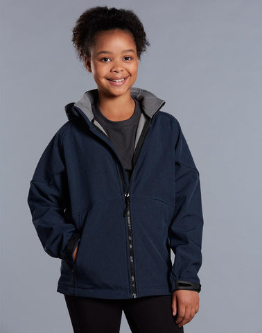 Winning Spirit Kids' Softshell Hooded Jacket (JK33K)
