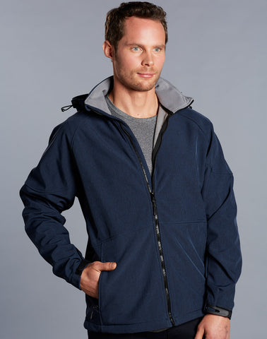 Winning Spirit Men's Aspen Softshell Hooded Jacket (JK33)