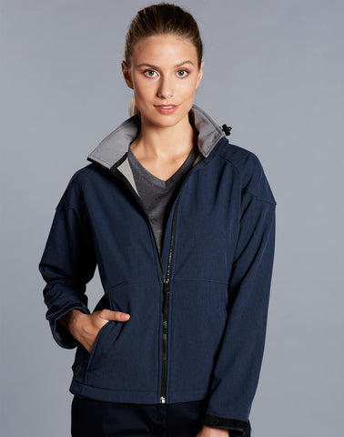 Winning Spirit Ladies' Aspen Softshell Hooded Jacket (JK34)