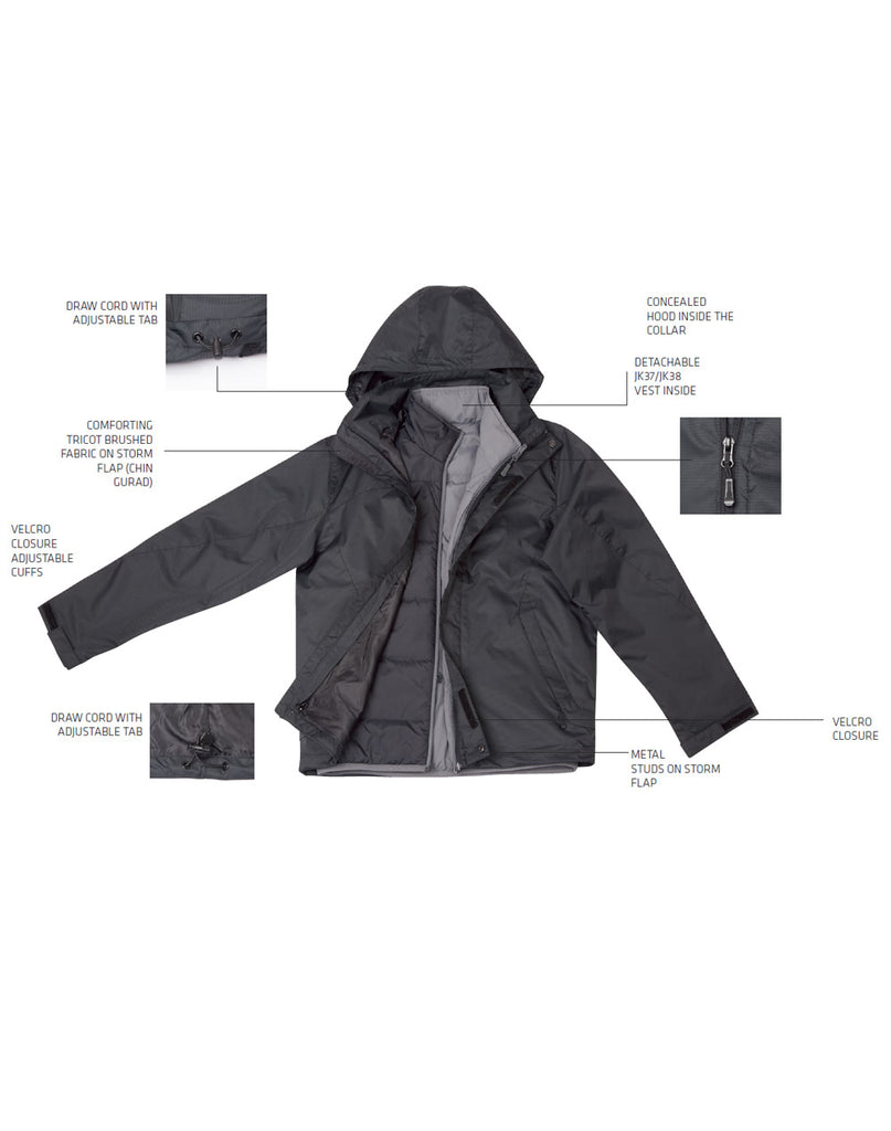 Winning Spirit Ladies' Versatile Jacket (JK36)