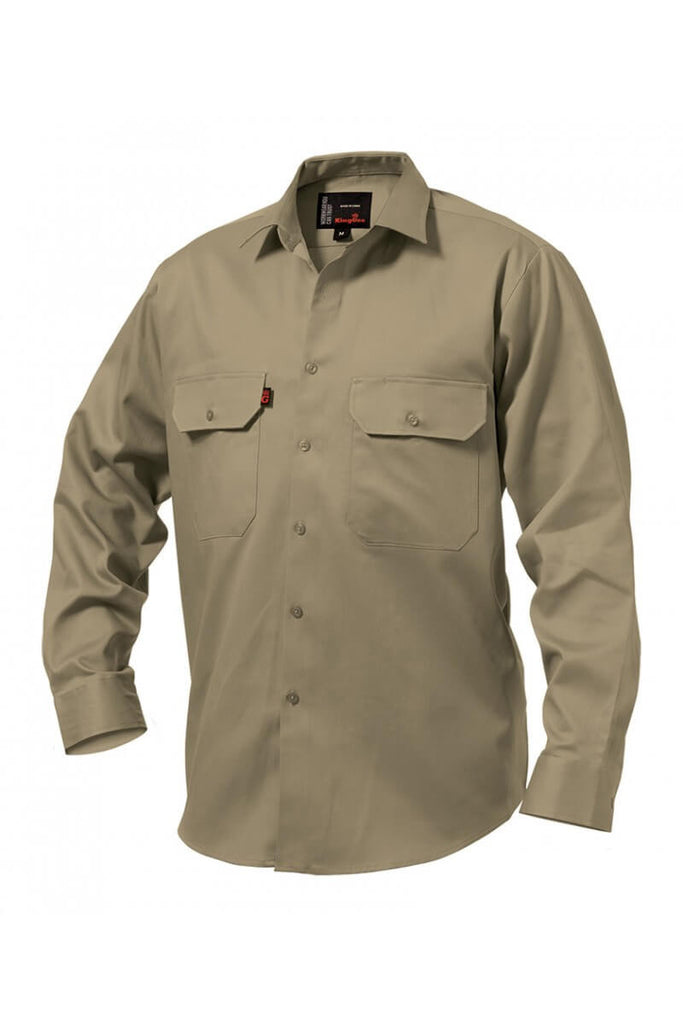 King Gee Long Sleeve Open Front Drill Shirt (K04010)