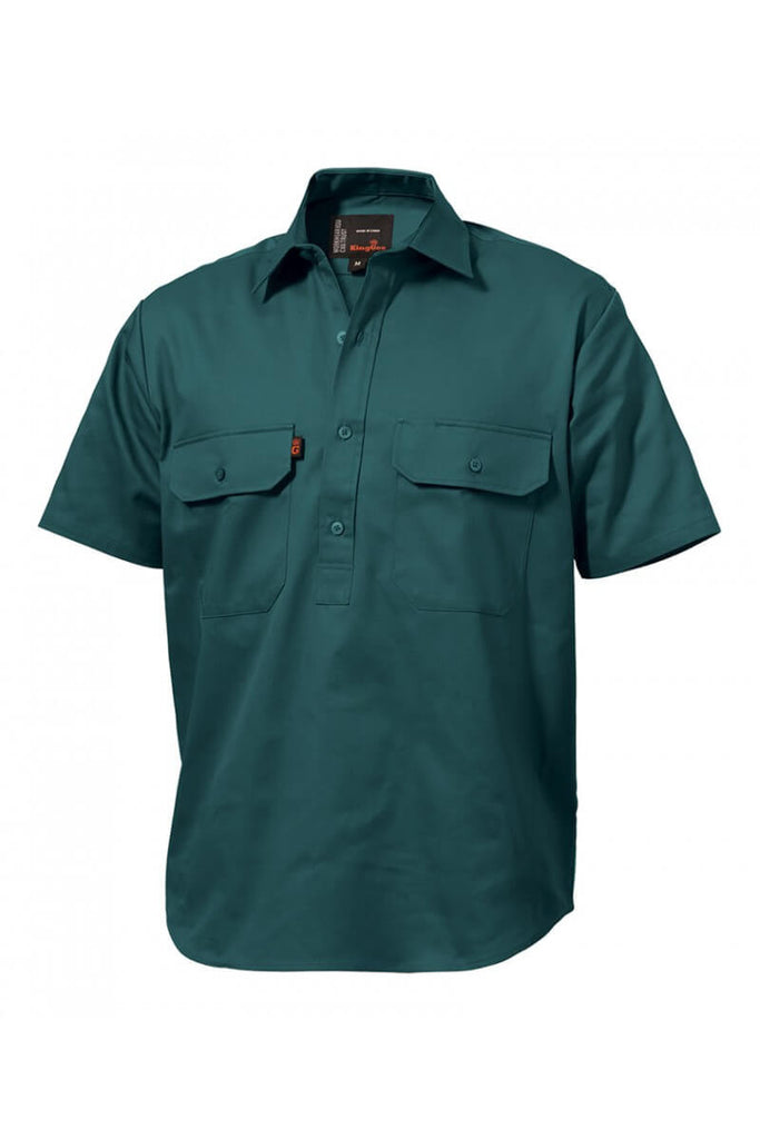 King Gee Closed Front Drill Shirt S/S  (K04060)