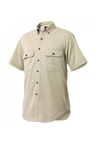 King Gee Men's Short Sleeve 'work Comfort' Mini Twill Shirt (K04360)