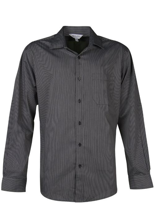 Aussie Pacific Mens Henley Long Sleeve Shirt-(1900L)