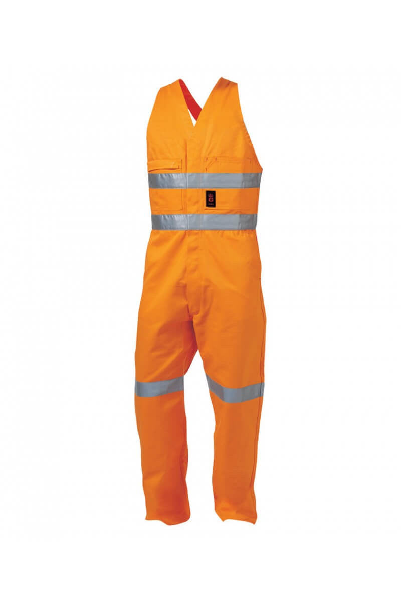 King Gee Reflective Sleeveless Drill Overall (K52075)