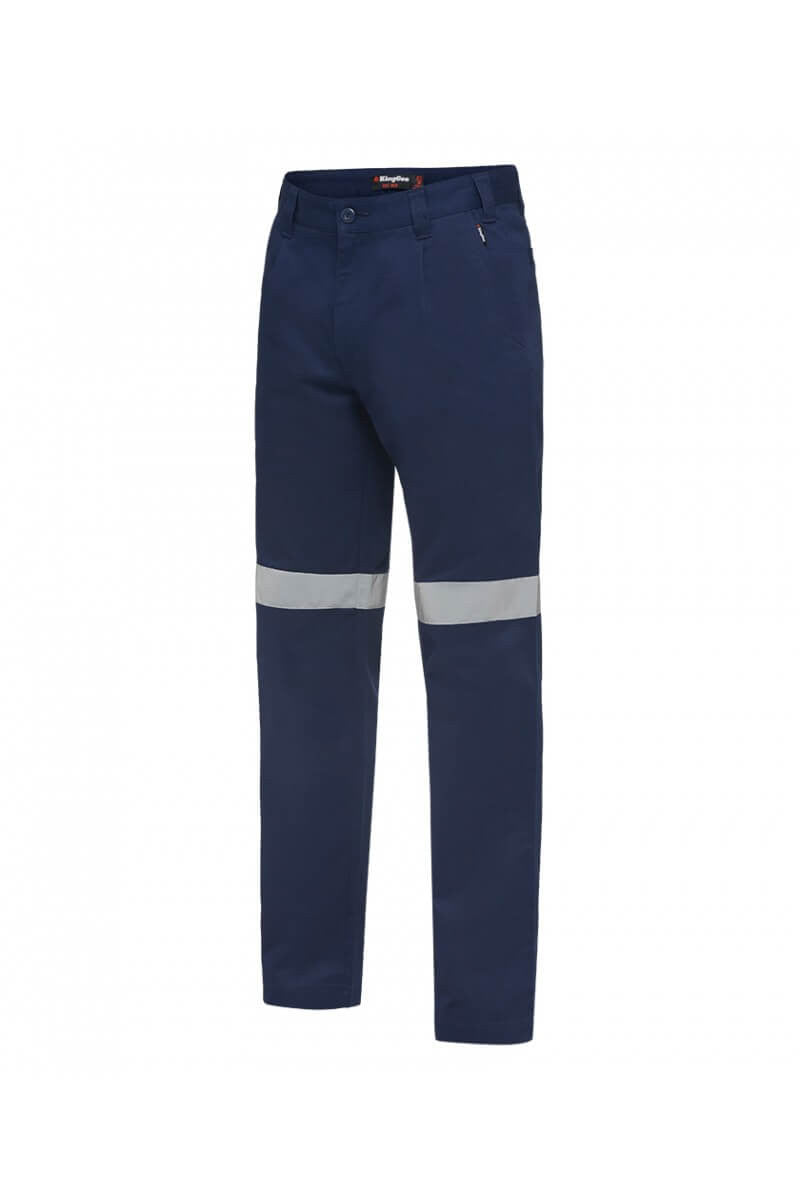 King Gee Hi-Vis Reflective Drill Trouser- 100% Cotton Drill-310gsm (K53020)