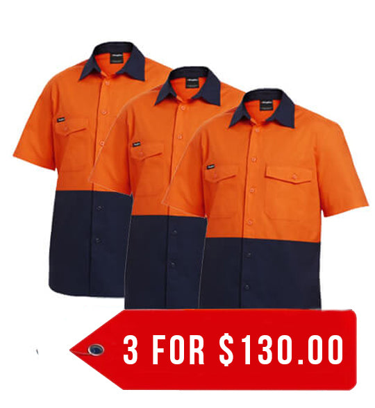 KingGee Workcool 2 Reflective Spliced Shirt S/S ( K54875-1)-3 Packs