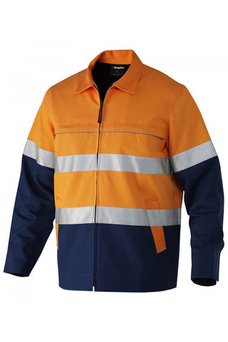King Gee Reflective Spliced Nano-Tex Drill Jacket (K55905)