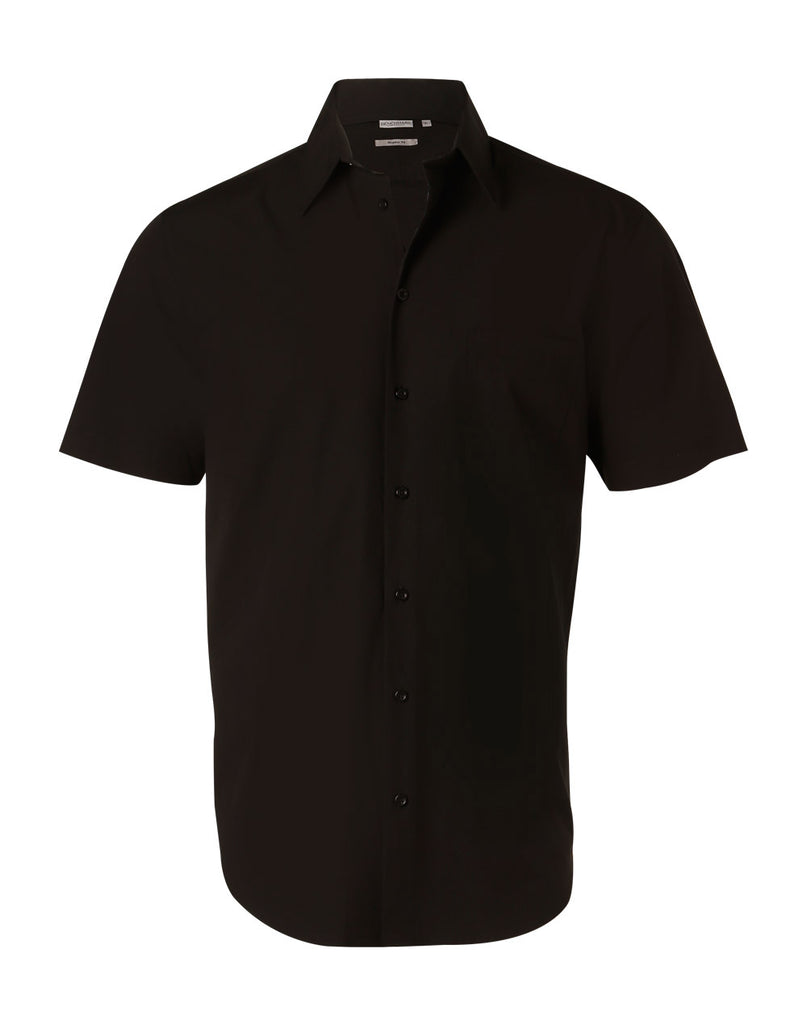 Winning Spirit Men's Cotton/Poly Stretch Short Sleeve Shirt (M7020S)