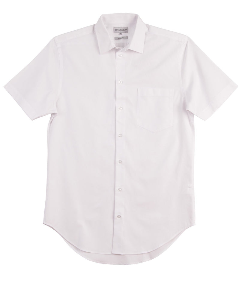 Winning Spirit-Winning Spirit Men's CVC Oxford Short Sleeve Shirt-White / 38-Uniform Wholesalers - 4