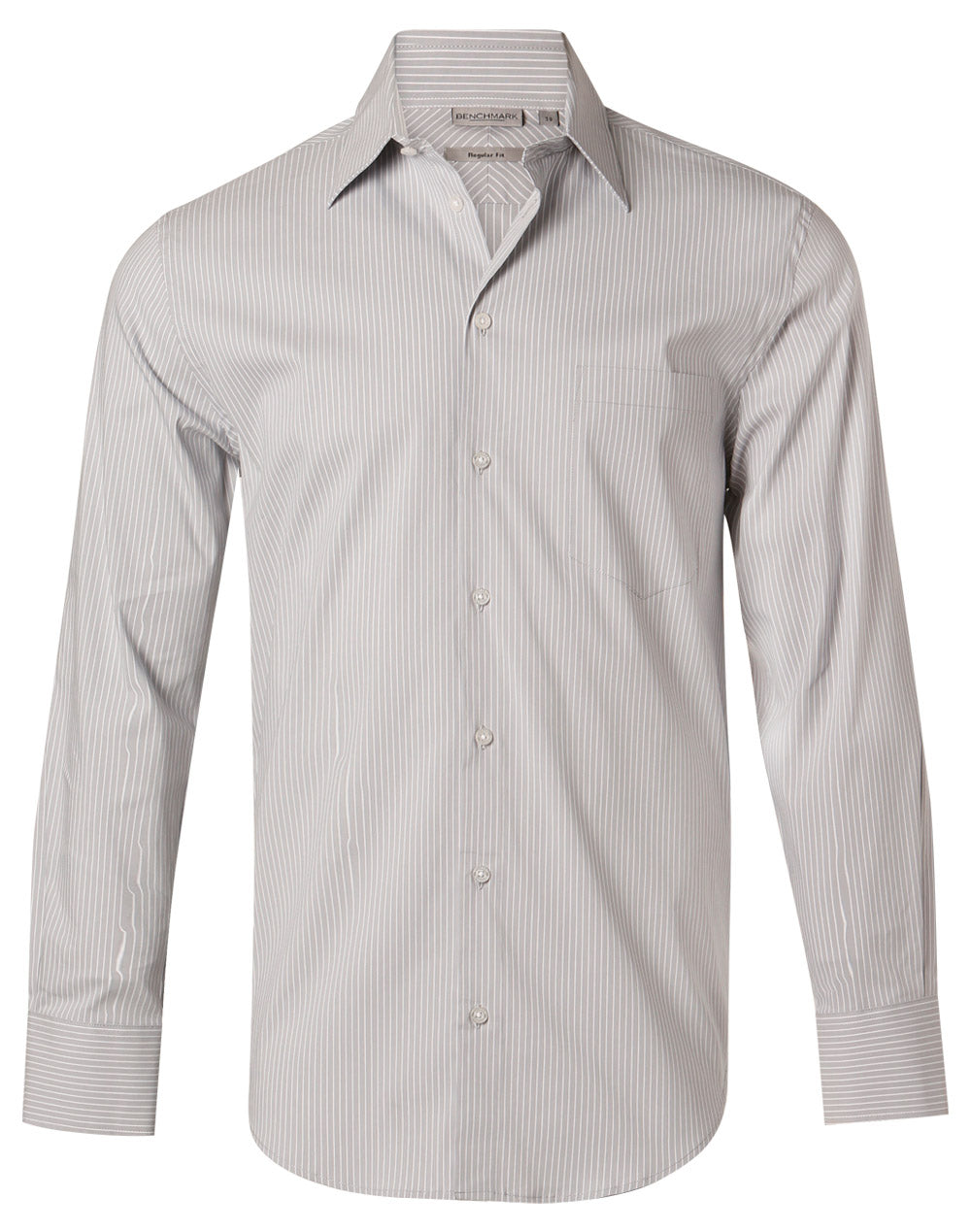 Winning Spirit Men's Ticking Stripe Long Sleeve Shirt (M7200L)